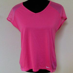 Pink Nike Dri-fit Top with Mesh Panels